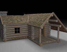 wooden cabin game-ready 3d asset