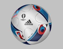 Official Match Ball EURO 2016 - BEAU JEU  - France 2016 3D Model
