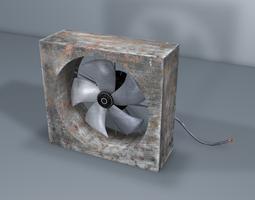 low-poly 3d model old fan - industrial fan