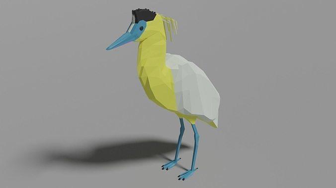 Cartoon Capped Heron