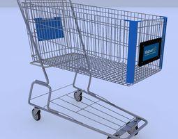 Walmart Shopping Cart 3D Model