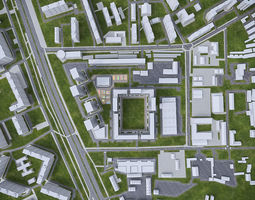 Urban Area 02 3D asset