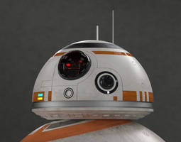 bb-8 droid - all details animated 3d