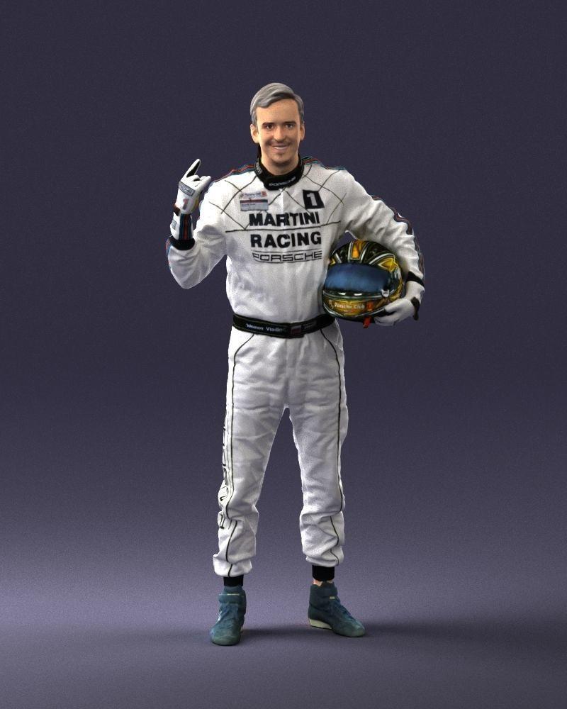 Male race car driver 0268 3D Print Ready