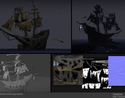 3d model ghost ship realtime