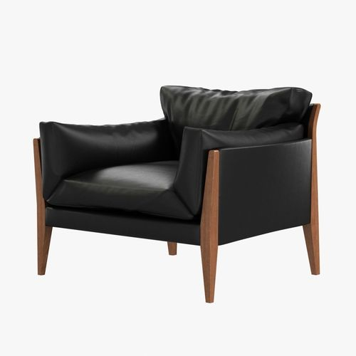 Merveilleux Diana Lounge Leather Chair By Ritzwell 3D Model