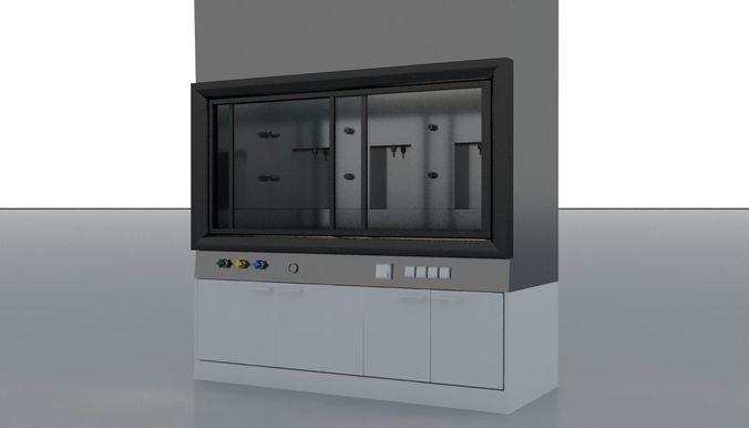 laboratory test cabinet 3d model max obj mtl fbx 1