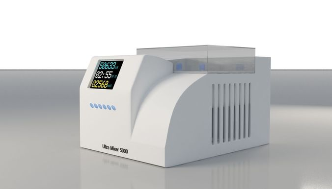 lab pcr equipment 3d model max obj mtl fbx 1