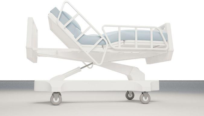 hospital bed 3d model max obj mtl fbx 1