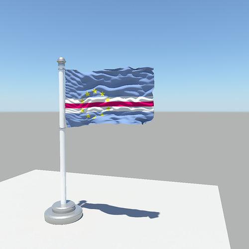 cape verde flag 3d model obj mtl fbx ma mb 1