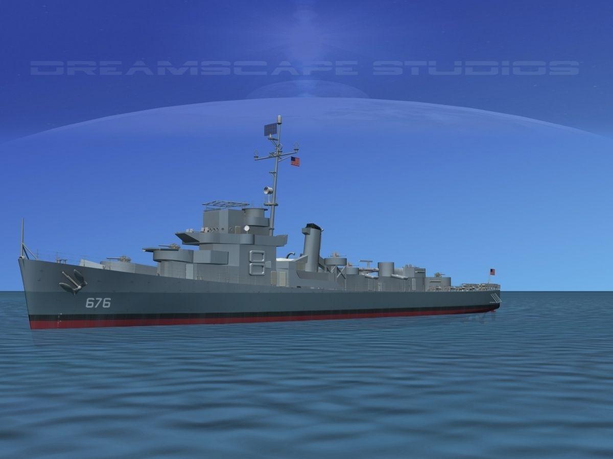 Destroyer Escort DE-676 USS Schmidt