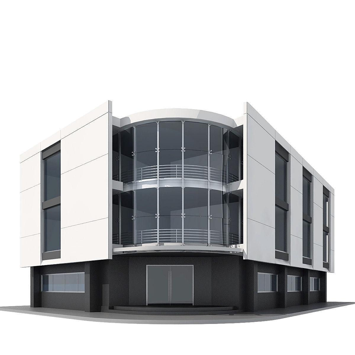 Corner Building 3d