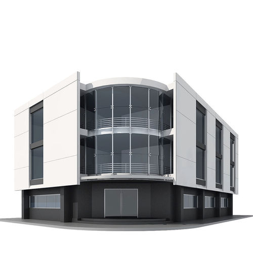 3d model corner building cgtrader for Build a 3d house online