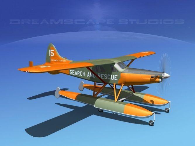 dehavilland dhc-2 turbo beaver v11 3d model animated max obj mtl 3ds fbx lwo lw lws dxf 1