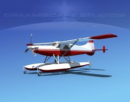DeHavilland DHC-2 Turbo Beaver V17 3D