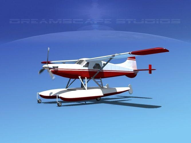 dehavilland dhc-2 turbo beaver  v17 3d model animated max obj mtl 3ds fbx lwo lw lws dxf 1