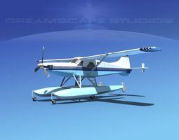 3D DeHavilland DHC-2 Turbo Beaver V20