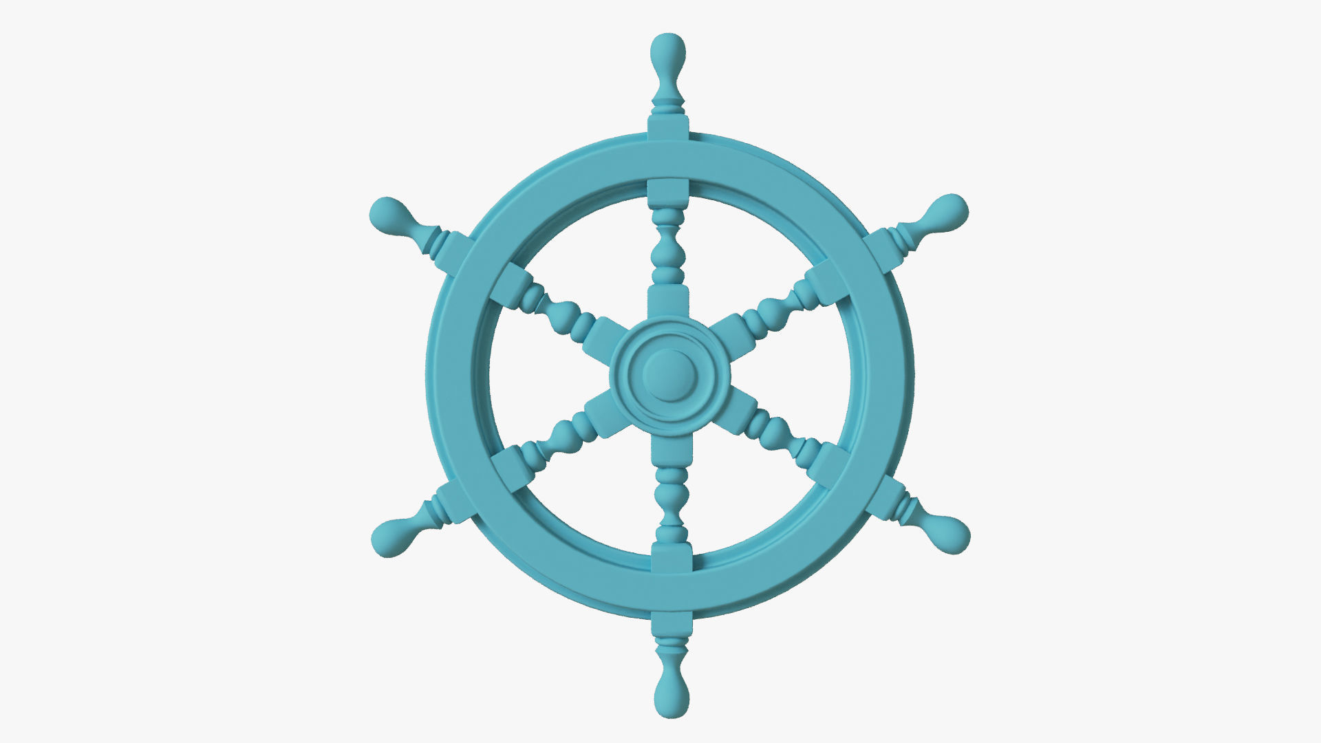 Naval steering wheel