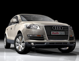 3D model Audi Q7 German SUV