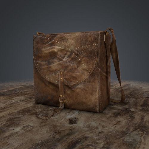 leather bag  3d model low-poly obj fbx ma mb mtl tga 1