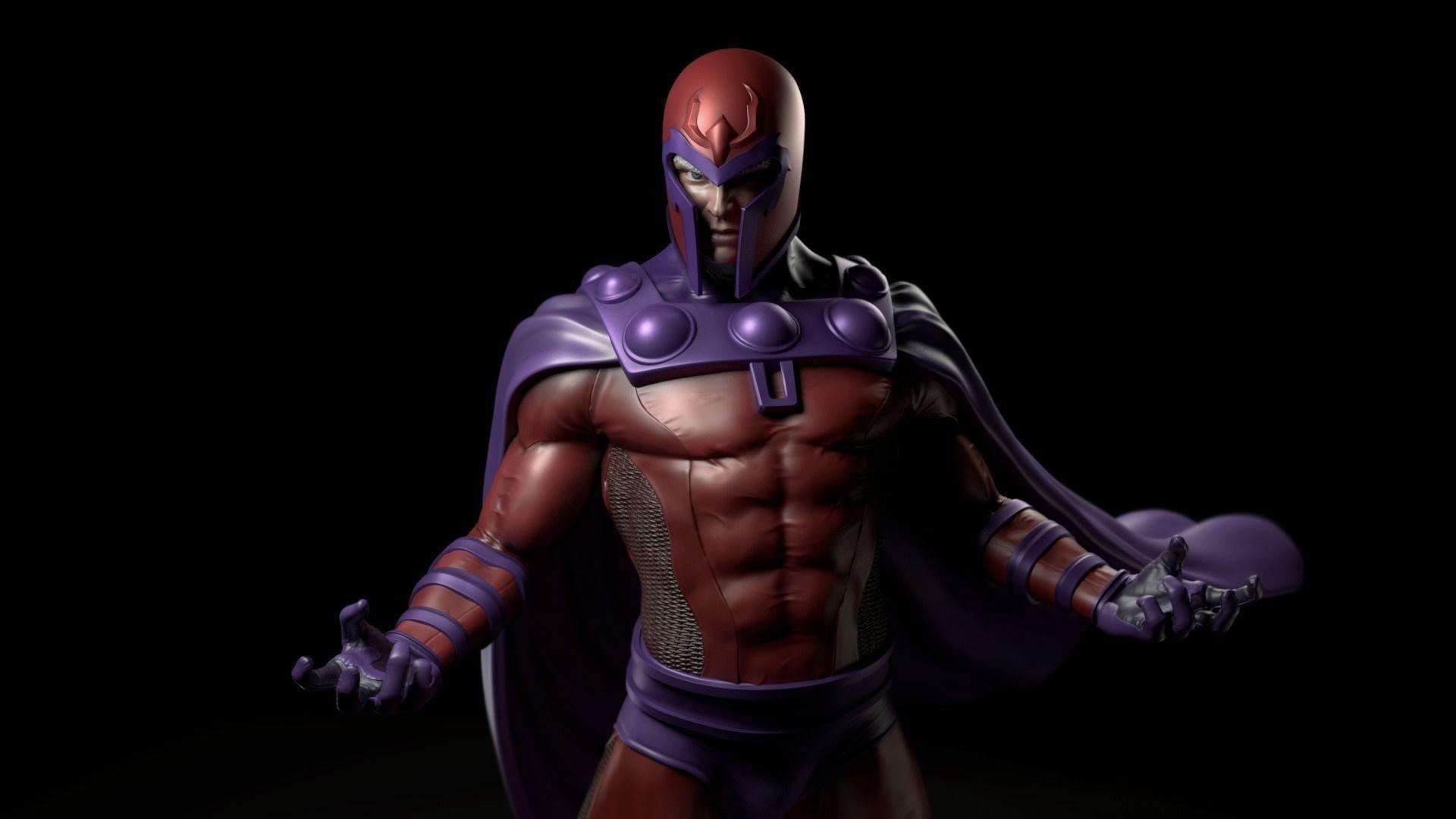 Magneto Fan Art Statue for Print