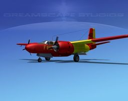3D model Douglas Connair 322 V02