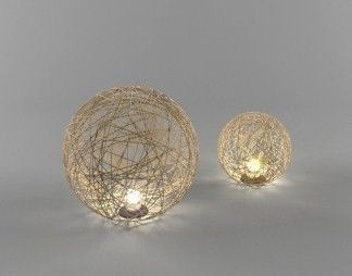 Designer Lamp - shadow casting mesh design