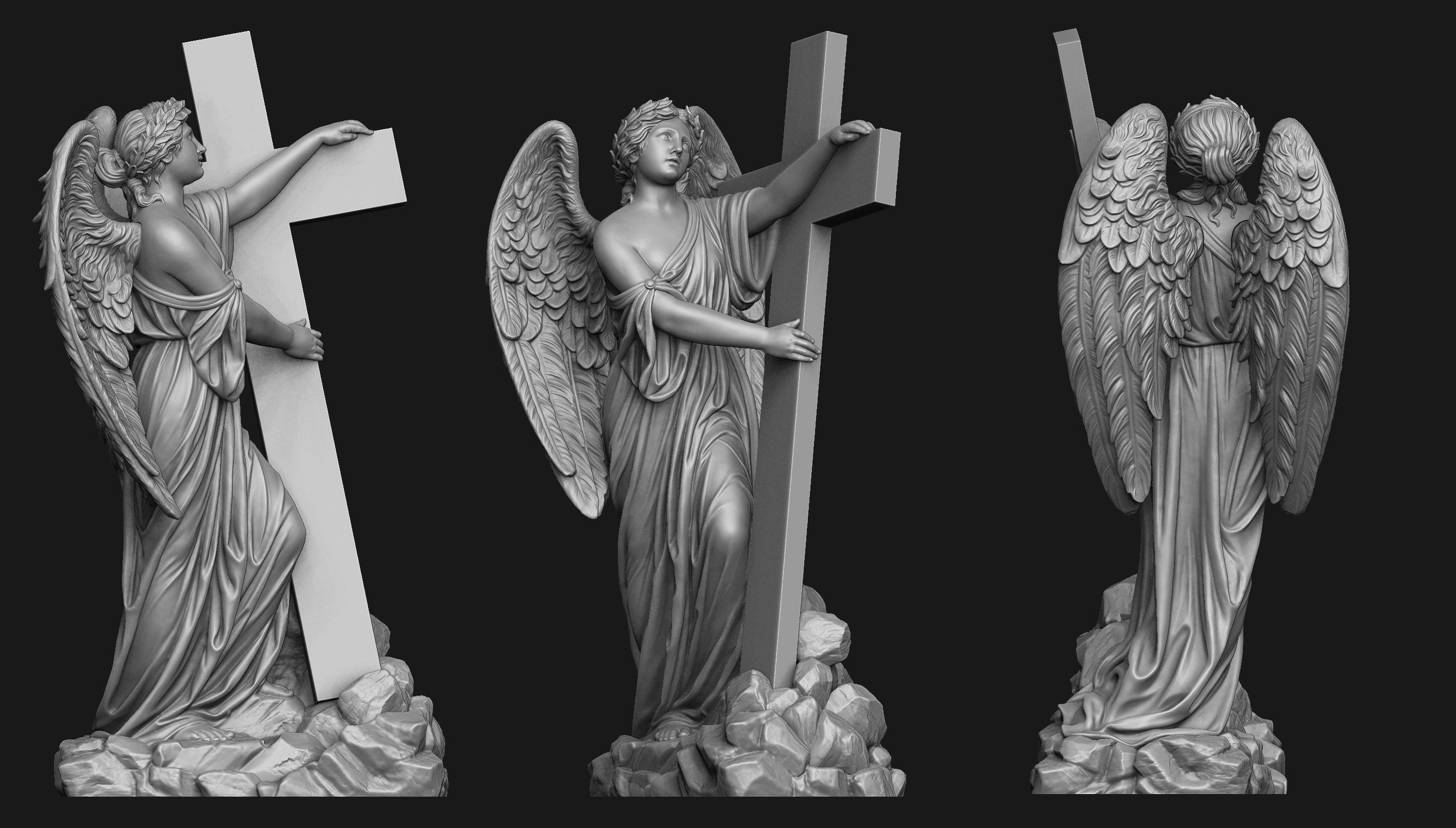 Angel with a Cross Printable