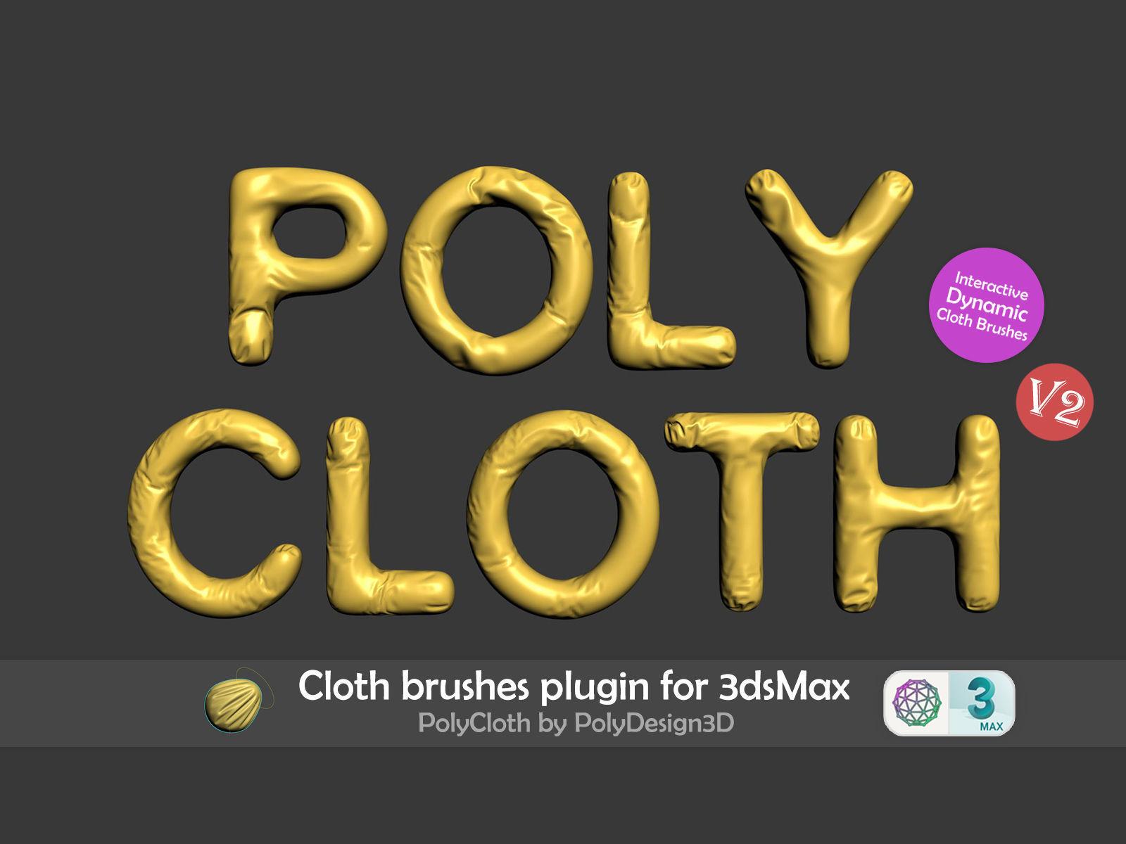 PolyCloth V2 ClothBrush Plugin for 3dsMax