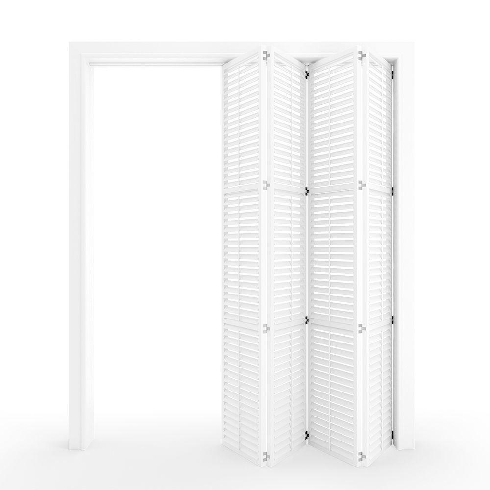 Interior folding shutter door