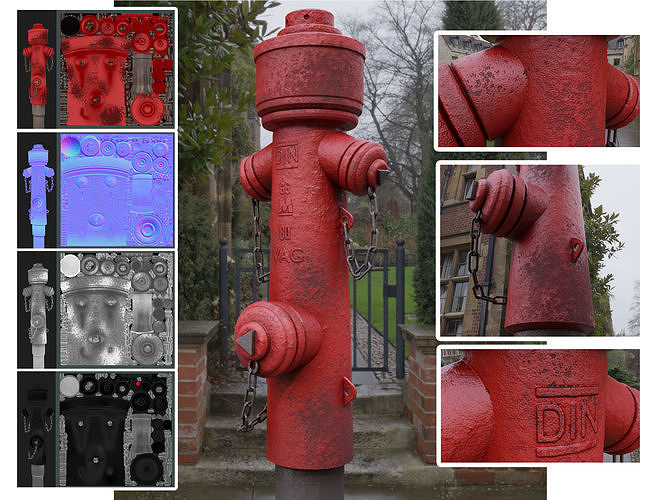 Fire Hydrant VAG 2 - Red and Rosty 1 -