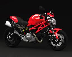 2010 - ducati monster 696 3d model