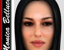 3D model Monica Bellucci hair