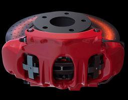 brake assembly for racing car 3d model max lxo lxl tga