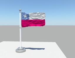 3D model Chile flag