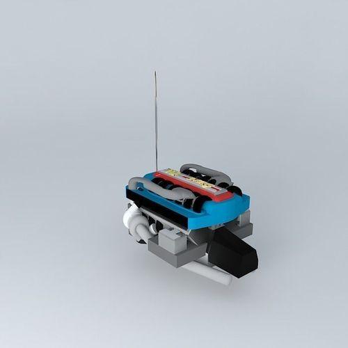 car engine neg v12 3d model max obj 3ds fbx stl skp 1