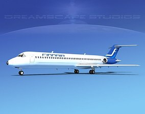 3D model Douglas DC-9-40 Finnair 2