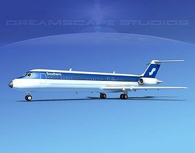 Douglas DC-9-40 Southern Airways 3D model