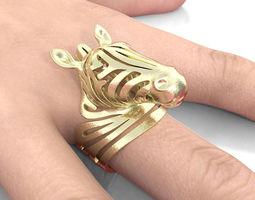 Zebra Ring - Award Winner 3D printable model