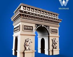arc de triomphe 3d print model