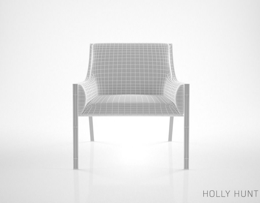 3d holly hunt aileron lounge chair cgtrader