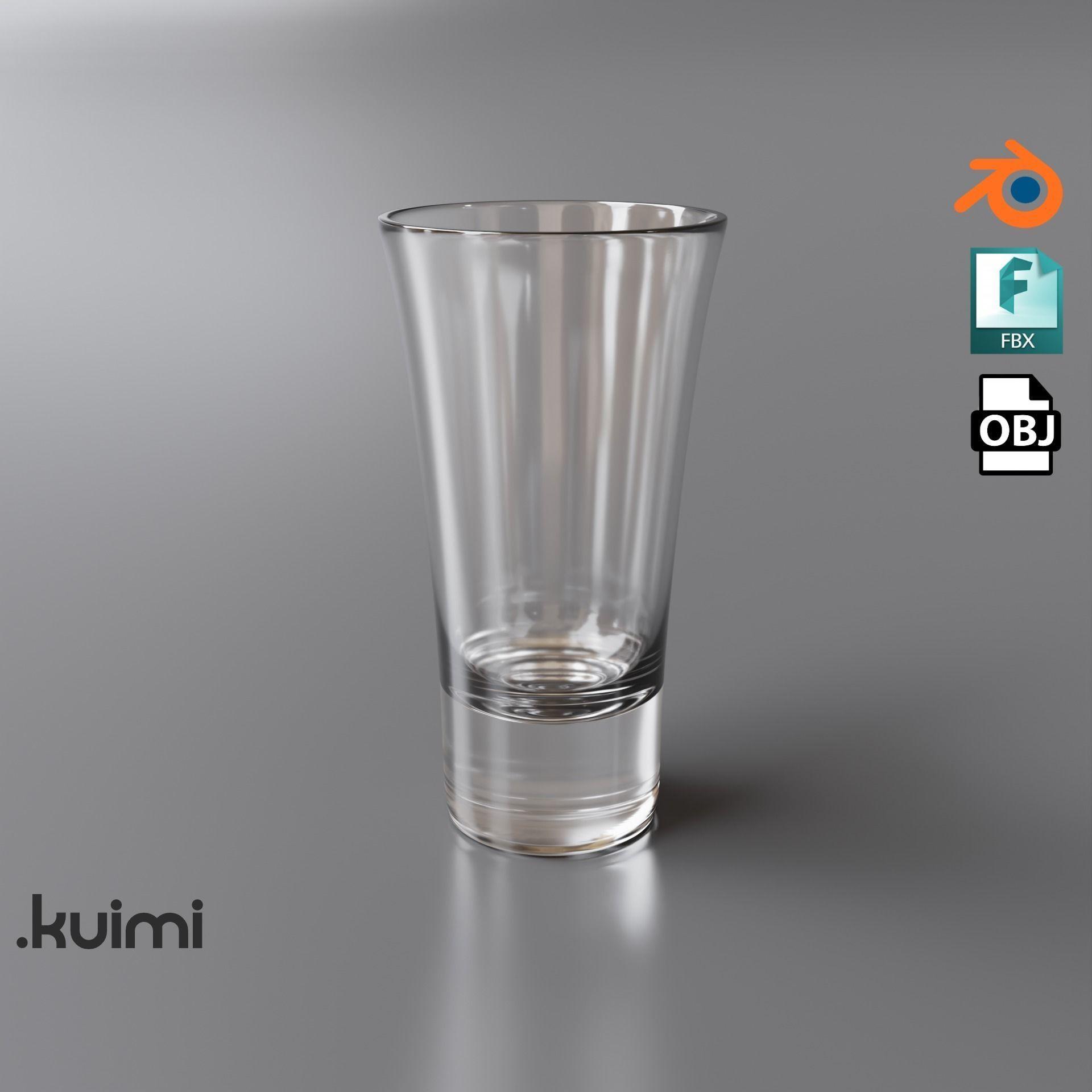 Free PBR Vodka Glass