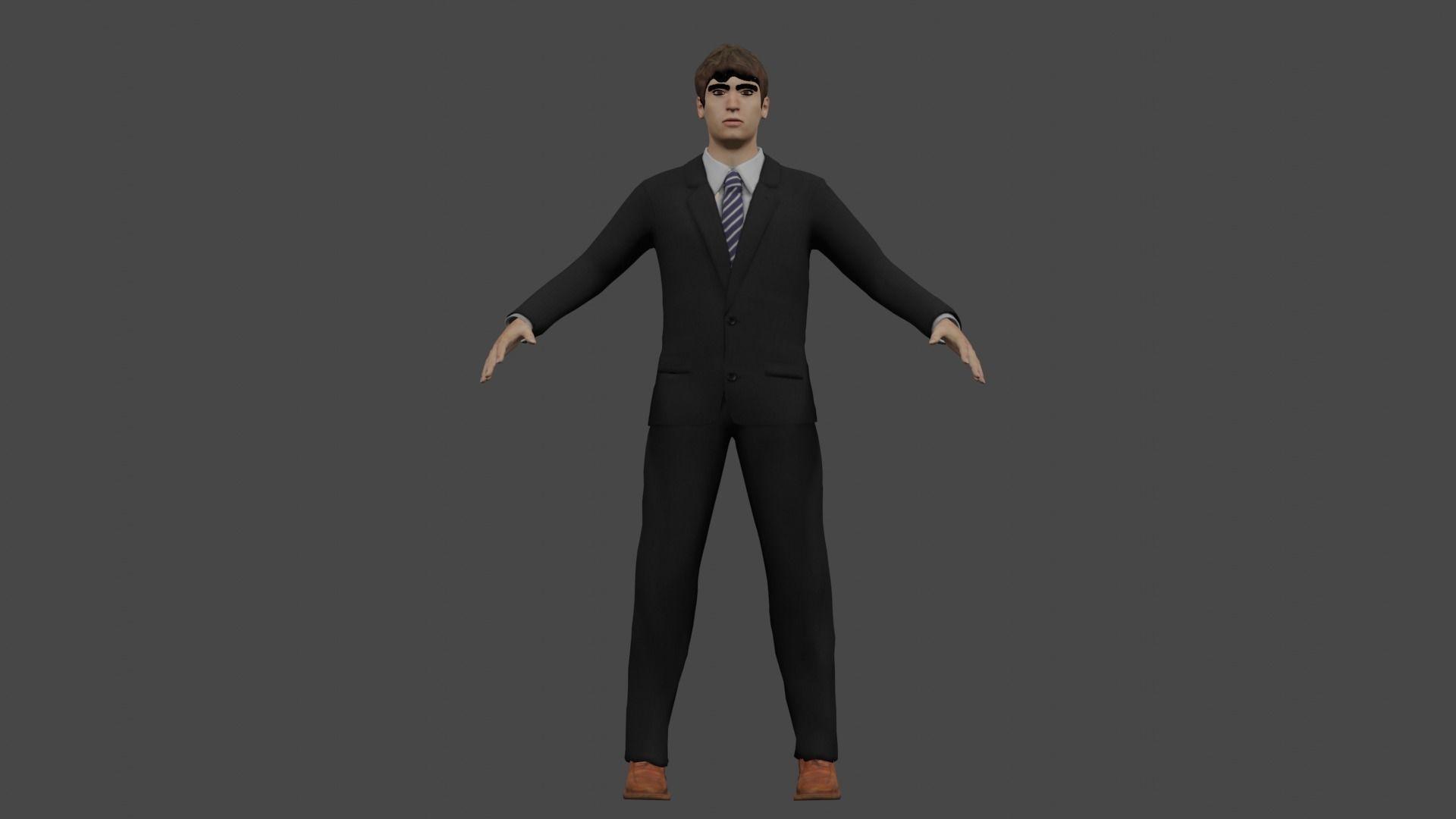 businessmen fully rigged 3D model