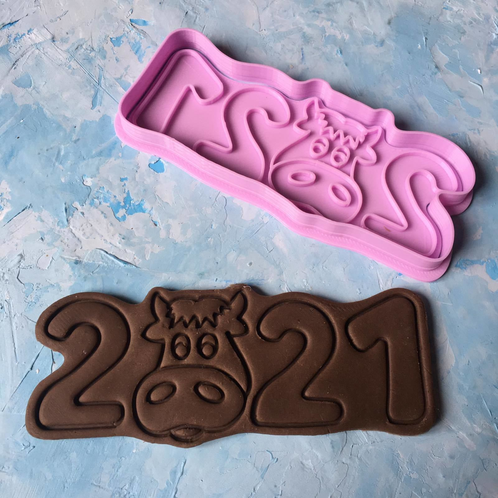 Cookie Cutter  New Year 2021 3D print model 3D print model