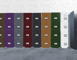 Filing Cabinet 3D model low-poly