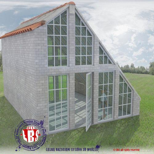 greenhouse 3d model obj 3ds fbx c4d dxf dae 1