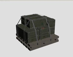 3D model Military crate