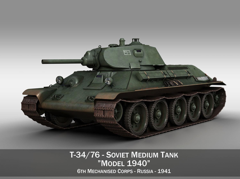T-34-76 - Model 1940 -Soviet medium tank - 6MC
