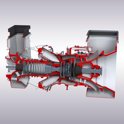 gas turbine 3d model max fbx stl 1