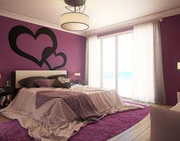 romantic bedroom - updated 3d